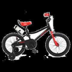 "Retrospec Koda 16"" Kids Bike with Training Wheels - Black and Red"