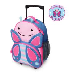 Skip Hop Zoo Kids Rolling Luggage - Butterfly