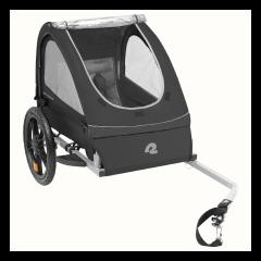 Retrospec Rover One Passenger Children's Foldable Bike Trailer - Black