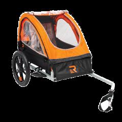 Retrospec Rover One Passenger Children's Foldable Bike Trailer - Orange
