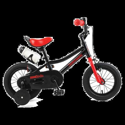 "Retrospec Koda 12"" Kids Bike with Training Wheels - Black and Red"