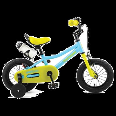 """Retrospec Koda 12"""" Kids Bike with Training Wheels - Blue and Lime"""