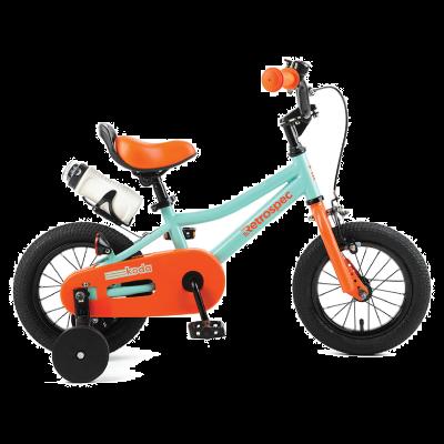 "Retrospec Koda 12"" Kids Bike with Training Wheels - Seafoam and Tangerine"