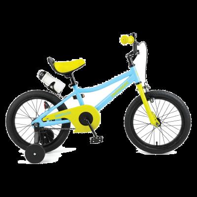 """Retrospec Koda 16"""" Kids Bike with Training Wheels - Blue and Lime"""