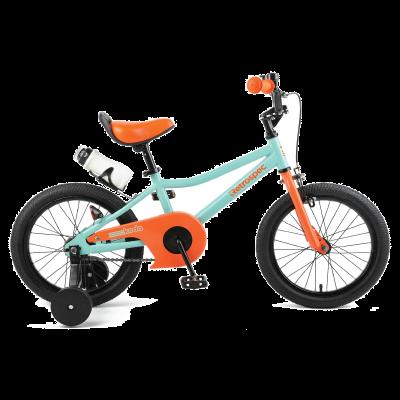 "Retrospec Koda 16"" Kids Bike with Training Wheels - Seafoam and Tangerine"