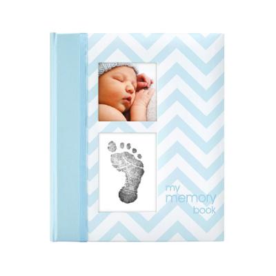Pearhead Chevron Babybook - Blue