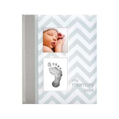 Pearhead Chevron Babybook - Grey