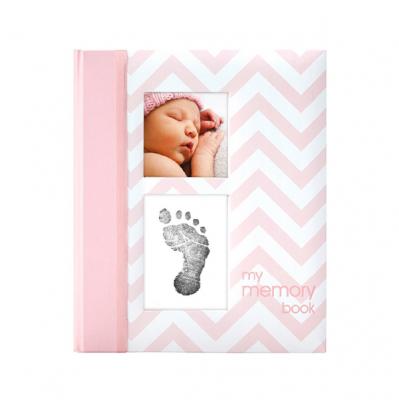 Pearhead Chevron Babybook - Pink