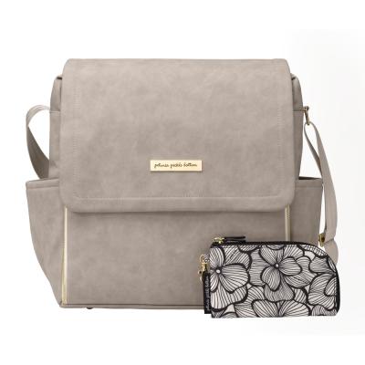 Petunia Pickle Bottom Boxy Backpack - Grey Leatherette