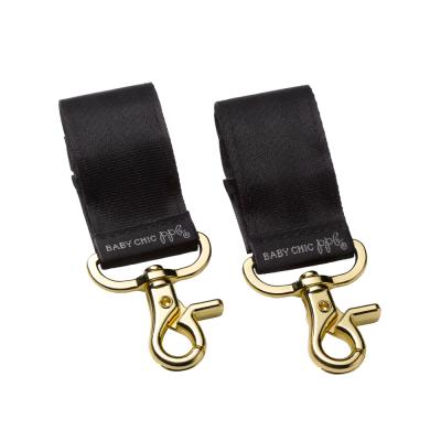 Petunia Pickle Bottom Valet Stroller Clips - Gold/Black