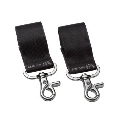 Petunia Pickle Bottom Valet Stroller Clips - Silver/Black