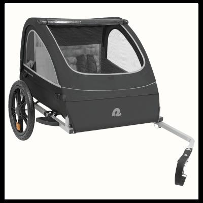 Retrospec Rover Two Passenger Children's Foldable Bike Trailer - Black