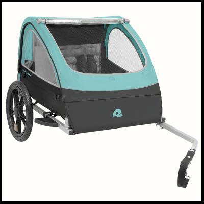 Retrospec Rover Two Passenger Children's Foldable Bike Trailer - Blue Ridge